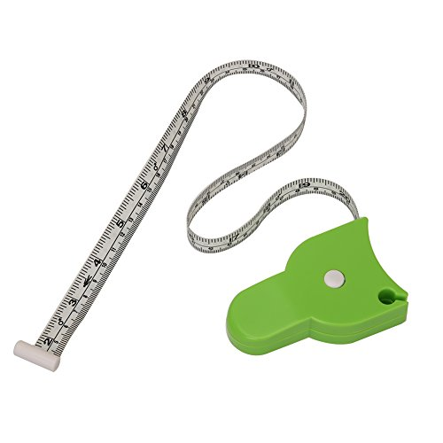 Tenn Well 60 Inches Body Measuring Tape, Easy Use and Read Body Tape Measure for Weight Loss Fitness Progress (Green)