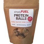 simplyFUEL Whole Food Protein Balls (Protein + Probiotic) 9.6 oz Peanut Butter Honey Almond