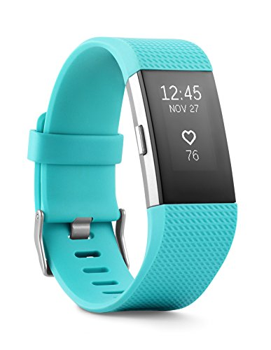 Fitbit Charge 2 Heart Rate + Fitness Wristband, Teal, Small (US Version)