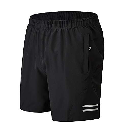 Men's Comfortable Loose Gym Fitness Training Workout Running Shorts with Zipped Side Pockets 2XL