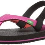 Sanuk Girls Yoga Mat GRL-Tod Flip Flop Hot Pink/Red, 11/12 M US Little Kid
