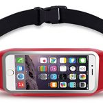 uFashion3C Running Belt Waist Pack for Phone and Keys – fits iPhone X 8 7 6s 6 Plus, Galaxy S9 S8 Plus, S7 Edge, Note 8 5, J7 – Water Resistant Reflective Fitness Workout Fanny Pack for Men and Women