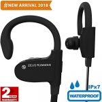 Bluetooth Running Headphones – EXCLUSIVE 2018 – Best Small Sport Headphones – Adjustable Ear Hooks – Wireless Headphones w/ Mic – Waterproof IPx7 Workout Headphones Earbuds for Men Women – Up to 8 Hrs