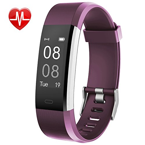 Willful Fitness Tracker with Heart Rate Monitor, Fitness Watch Activity Tracker IP67 Waterproof Slim Smart Band with Step Calorie Counter 14 Sports Mode Sleep Monitor,Pedometer for Kids Women Purple