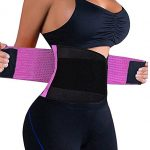 VENUZOR Waist Trainer Belt for Women – Waist Cincher Trimmer – Slimming Body Shaper Belt – Sport Girdle Belt (UP GRADED) (Purple, XX-Large)