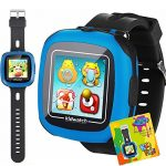 Kids Game Smart Watch – Digital Wrist Sport Smartwatch 3-12 Year Boys Girls with 1.5″ Touchscreen Camera Pedometer Alarm Timer Outdoor Activity Fitness Tracker Summer Holiday Learning Toy Gift, Black