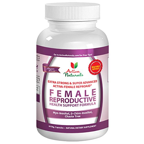 Activa Naturals Female Fertility Vitamins Supplement with Reproductive Health Booster Multivitamin Formula D Chiro Inositol, Myo Inositol & Chaste Tree Herbs – 60 Veg. Capsules