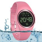 3D Pedometer Watch Sport Wristband IP68 Swimming Water-resistant Fitness Tracker with Accurately Track Steps/Distance/Calorie/Clock/Timer[No App No Phone need]for Walking Running Kid Men Women(Pink)