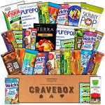 CraveBox – Healthy Snacks Care Package (30 Count) – Variety Assortment with Fruit Snacks, Granola Bars, Popcorn and More, Gift Snack Box for Lunches, Offices or College Students
