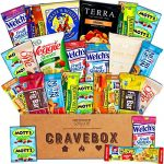 CraveBox – Healthy Snacks Care Package (25 Count) – Variety Assortment with Fruit Snacks, Granola Bars, Popcorn and More, Gift Snack Box for Lunches, Offices or College Students