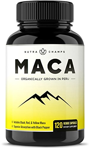 Organic Maca Root Powder Capsules – 1000mg Peru Grown – Energy, Fertility & Sex Health Supplement for Men & Women – Vegan Pills – Gelatinized + Black Pepper Extract for Superior Results