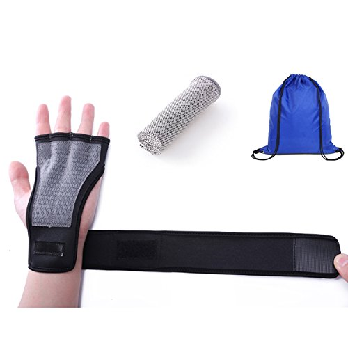 The Strongest Wrist Support – Workout Gloves Cross Training Gloves Gym Gloves for Men and Women Cross Training Fitness Gloves Unique Strong Hand Protectors Wrist Brace (Black, M)