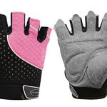 Tourdarson Weight Lifting Gloves for Women & Men, Anti-Slip Silica Gel Grip Padded Workout Gloves for Weightlifting, Cross Training, Gym, Fitness, Bodybuilding (Pink&Black, Small)