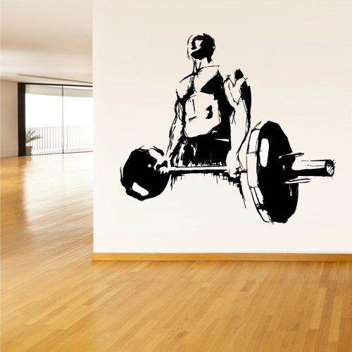 How to paste Wall Decor in gym (Vinyl Wall Decals Gym quotes)