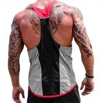 ICOOLTECH Men's Fitness Gym Muscle Cut Stringer Bodybuilding Workout Sleeveless Tank Top Shirts (US – Medium, Z Grey (No Words))