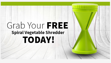 Vegetable Spiralizer Reviews : Get FREE Spiral Vegetable Shredder Now!
