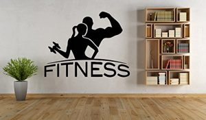 Vinyl Wall Decals with Gym quotes