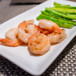 Shrimp with Chickpeas and Seasoned Asparagus