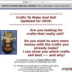 CRAFTS TO MAKE AND SELL EBOOKS. Decide a craft undertaking, make it & promote it!